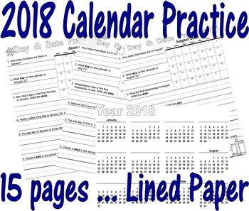 January 2018 Printable Calendar Teaching Resources Teachers Pay