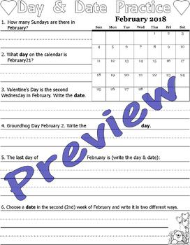 2018 Monthly Calendar Worksheets : 12 Months & Year Review : LINED PAPER