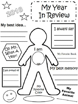 2018 My Year in Review Activity Sheet