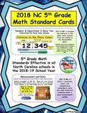 2018 NC 5th Grade Math Standards Cards