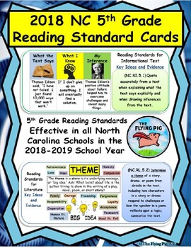 2018 NC Reading Standard Cards