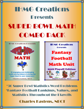 2018 NFL Playoff Combo Pack: Super Bowl Math & Playoff Fantasy Football Unit