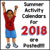 2018 NO PREP Summer Calendars are POSTED!!!!!!