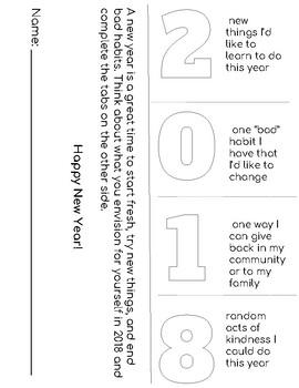 2018 New Year  Foldable, Printable Flip Book