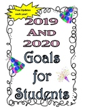 2019 and 2020 New Year's Goal Project for Kids