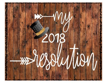 2018 New Years Resolution