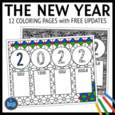 2018 New Years Resolutions Coloring Pages