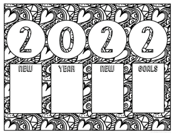 new years resolution coloring pages | New Years 2020 Coloring Pages by The Brighter Rewriter | TpT
