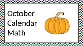 2018 October Calender Math