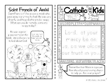 2018 October Catholic Kids Bulletins