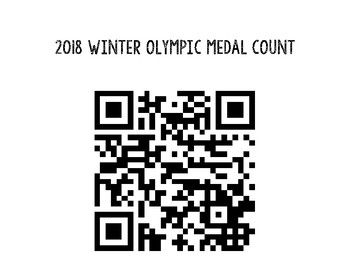 2018 Olympic Medal Count- FREEBIE