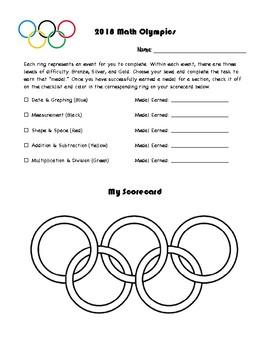 2018 Olympics Leveled Math Unit (US)