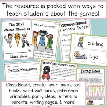 Winter Games - Crafts, Nonfiction ELA, Math, Party Ideas, & More!