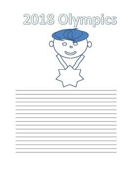 2018 Olympics Writing Template