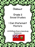2018 Ontario Grade 2 Social Studies I Can Statement Posters