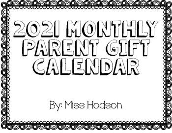 2019 Parent Calendar Gift