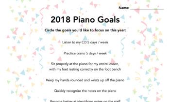 2018 Piano Goals!