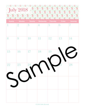 2018 Pink Roses Editable Planner