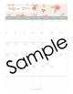 2018 Pink Vintage Flowers Editable Planner