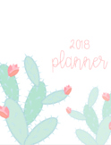 *EDITABLE* 2018 Planner - 3 different themes!