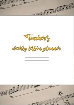 2018 Teacher Planner Cover Page - Music- #AUSB2S18 #BacktoSchool BTSdownunder