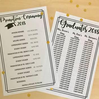 2019 Promotion Program & Graduation Invitations