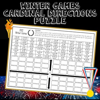 Winter Olympics 2018 Directional Words Puzzle