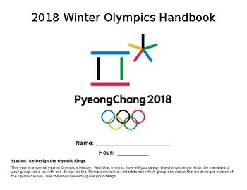2018 Pyeongchang Winter Olympics Workbook