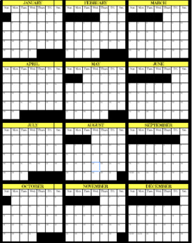 2018 SMALL ONE PAGE FILL IN GOOGLE CALENDAR