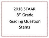 2018 STAAR 8th Grade Reading Question Stems