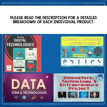 2019 STEM & DIGITAL TECHNOLOGIES & ICT SPECIALIST BUNDLE
