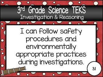 """3rd Grade Streamlined Science TEKS """"I Can"""" Statement Posters: PIRATE PROUD"""