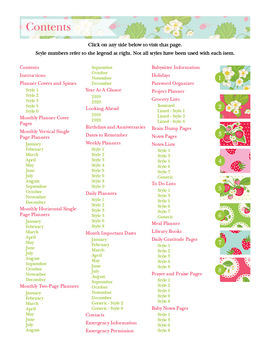 2018 Strawberries Editable Planner