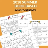 2018 Summer Book Based Activity Calendars
