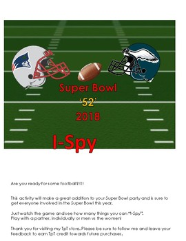 2018 Super Bowl 52 I-Spy