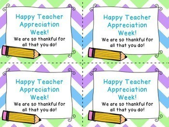 2018 Teacher Appreciation Week Idea for Teacher Appreciation Gift Tag Labels