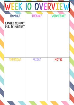 2018 Teacher Diary NSW Rainbow