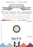 2018 Teacher Diary Weekly Planner A4