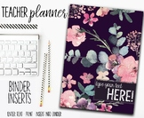 2018 Teacher Planner | Binder Inserts | Floral