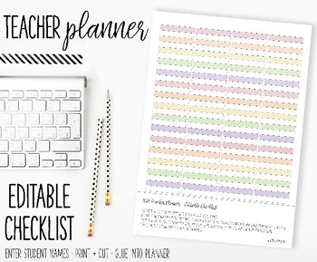 editable checklist