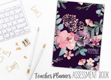 2018 Teacher Planner | Recording and Assessing | Plain Floral