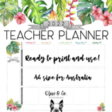 2018 Tropical Theme Teacher Diary Weekly Planner A4