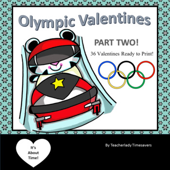 2018 USA Olympic Themed Valentines Winter Sports PART 2