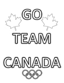 2018 WINTER GAMES, TEAM CANADA COLOURING PAGES, BUNDLE 20 PAGES