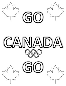 11 WINTER OLYMPICS, TEAM CANADA COLOURING PAGES, BUNDLE 11 PAGES