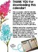 2018 Watercolor Flower Two Page Spread Calendar