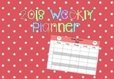 2018 Weekly Planner Template Editable!