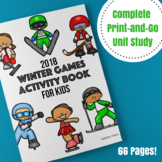 2018 Winter Olympics Complete Unit Study - 60+ Worksheet Pages!