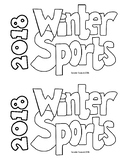 2018 Winter Games Research Book