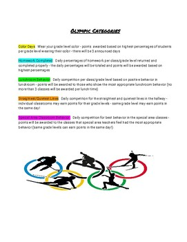 """2018 Winter """"Good Character"""" Olympics: A Fun Way To Improve School Climate"""